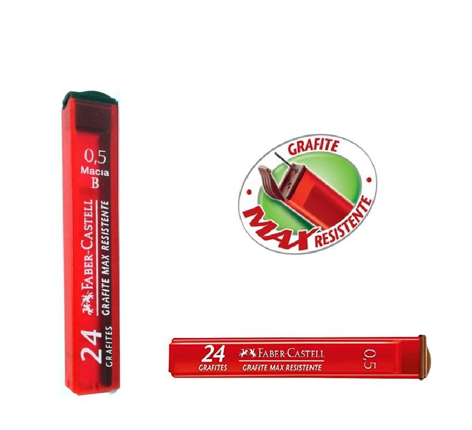 Grafite 0.5mm B com 24 minas Faber Castell