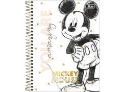 Caderno Colegial Mickey 160 Folhas Tilibra