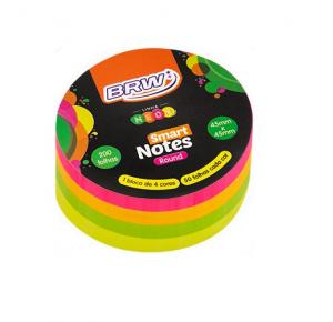 Bloco de Anotações Smart Notes Neon 45x45 com 200 Folhas BRW