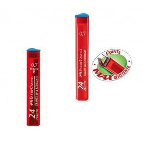 Grafite 0.7mm B com 24 minas Faber Castell