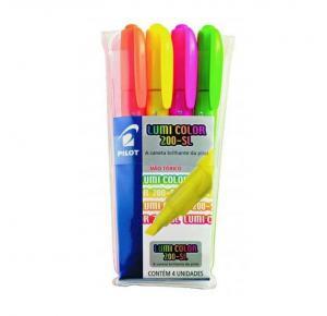 Kit Marca Texto com 4 Cores Neon Lumi Color 200-SL Pilot