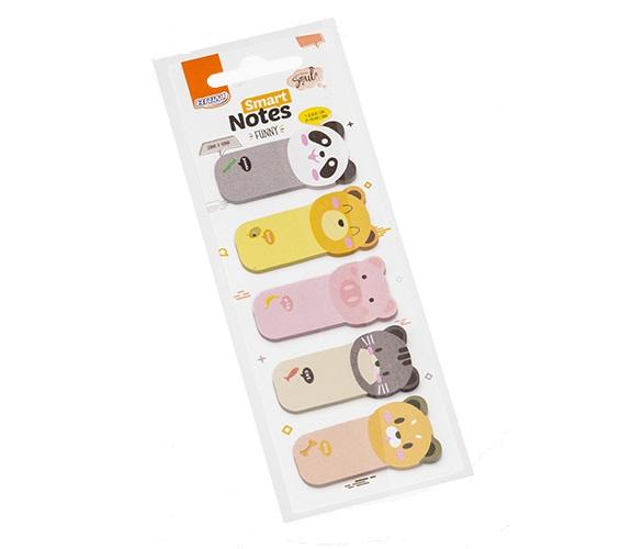 Marcador de Página Smart Notes Funny 23mm x 45mm 5 Blocos 25 Folhas BRW