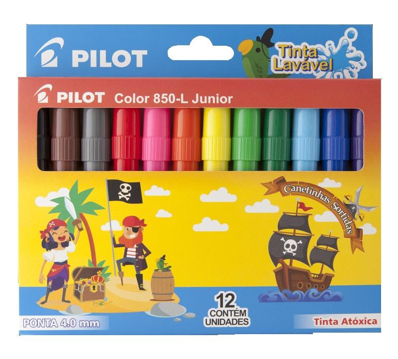 Caneta Hidrográfica Color 850-L Junior 12 Cores Pilot