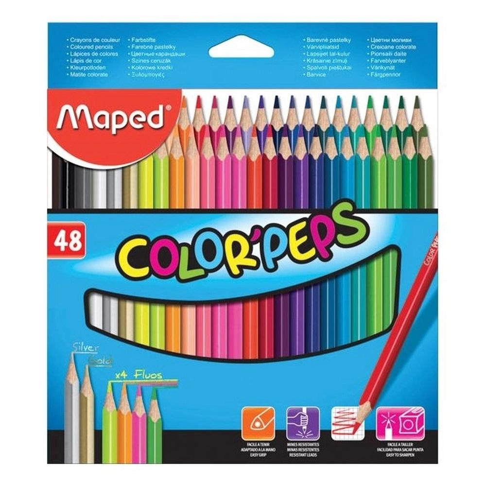 Lápis de Cor Color Peps com 48 Cores Maped