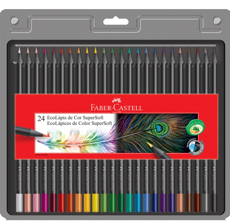 Lápis de Cor Ecolápis Supersoft 24 Cores Faber Castell