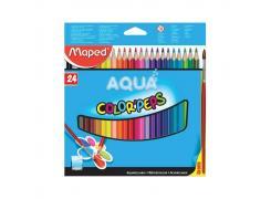 Lápis De Cor Aquaralável Color Peps Aqua com 24 Cores Maped