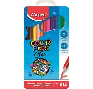 Lápis de Cor Color Peps caixa de metal 12 Cores Maped
