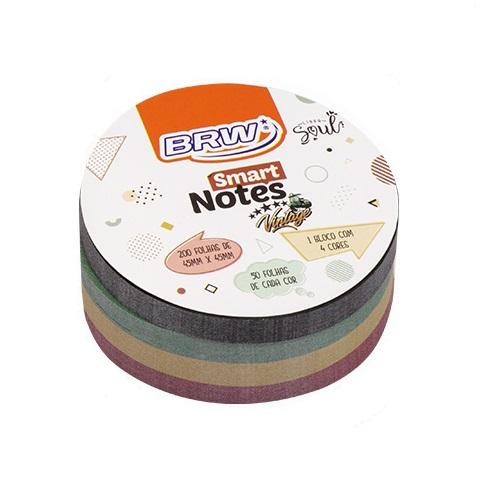 Bloco de Anotações Smart Notes Vintage 45x45 com 200 Folhas BRW