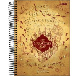 Caderno Colegial Harry Potter com 80 Folhas Jandaia