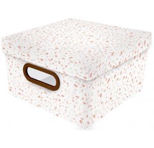 Caixa Organizadora Granilite Rosa Pequena Dello