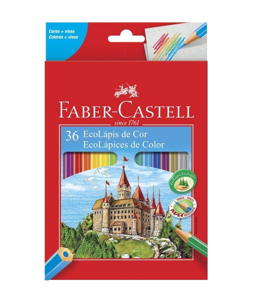 Lápis de Cor Ecolápis 36 Cores Sextavado Faber Castell