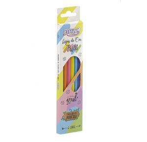 Lápis de Cor Pastel c/6 Unidades BRW