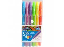 Kit Caneta Trigel 0.8 C/ 6 Cores Cis
