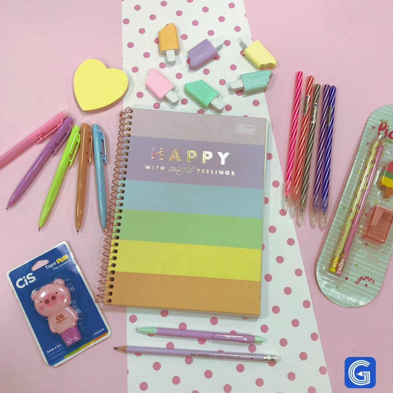 Kit Escolar Pastel