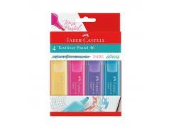 Estojo Marca Texto c/ 4 cores Textliner 46 Pastel FABER CASTELL