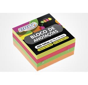 Bloco Smart notes 76x76mm- Cubo Neon - 400fls