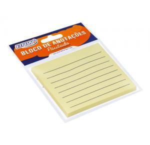 Bloco Smart Notes 76x76mm Pautado - Amarelo Pastel - 50fls