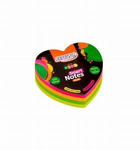 Bloco Smart notes Love 70x70mm coração - colorido neon -200fls