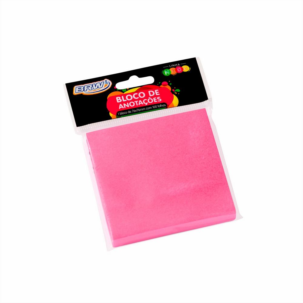Bloco smart notes 76x76mm- Rosa Neon - 100fls
