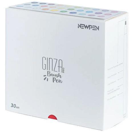 Kit Canet Pincel Brush Pen Ginza com 30 Unidades Newpen