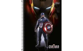 Caderno Universitário Civil War 96 Folhas Tilibra