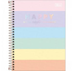 Caderno Colegial Happy Color 160 Folhas Tilibra