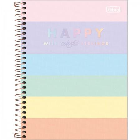 Caderno Colegial Happy Color 160 Folhas Tilibra