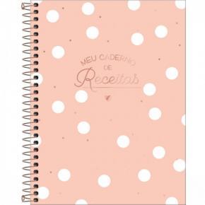 Caderno Espiral ''Meu Caderno de Receitas'' 80 Folhas Tilibra