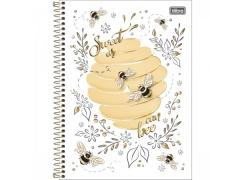 Caderno Universitário Honey Bee 80 Folhas Tilibra