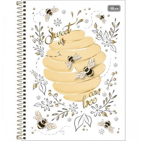 Caderno Universitário Honey Bee 80 Folhas Tilibra