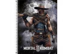 Caderno Universitário Mortal Kombat com 80 Folhas Tilibra