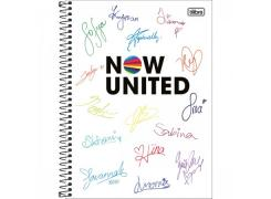 Caderno Universitário Now United 256 Folhas Tilibra
