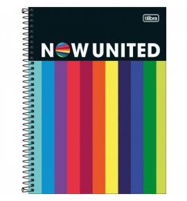Caderno Universitário Now United 160 Folhas Tilibra