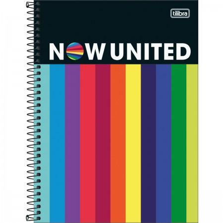 Caderno Universitário Now United 160 Folhas Tilibra
