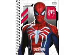 Caderno Universitário Spider Man Game com 80 Folhas Tilibra