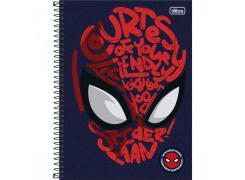 Caderno Universitário Spider Man Light com 80 Folhas Tilibra