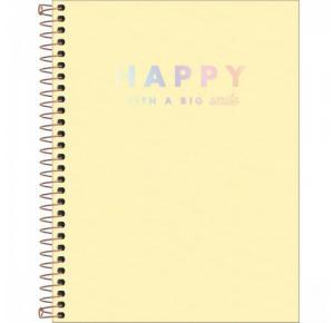 Caderno Colegial Happy com Capa Plástica 160 Folhas Tilibra