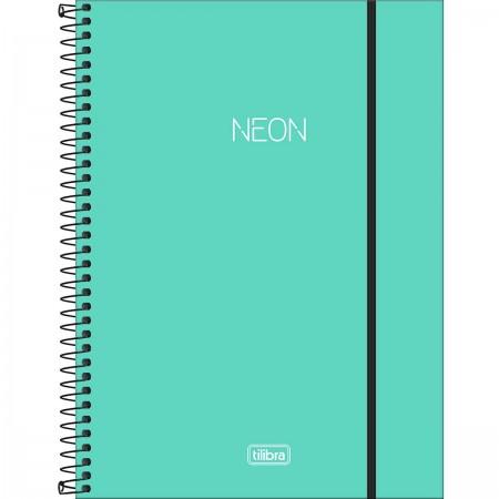 Caderno Universitário NEON Turquesa Tilibra