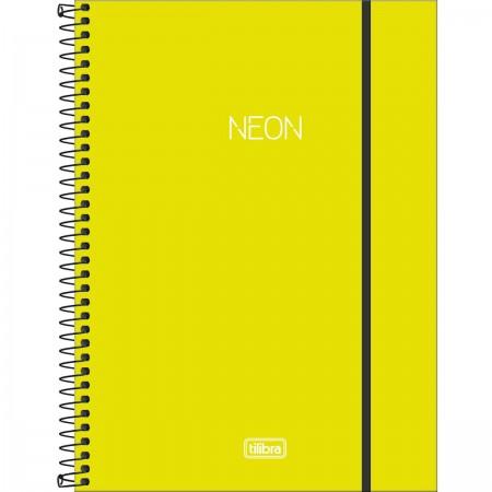 Caderno Universitário NEON Verde-Limão 80 Folhas Tilibra