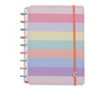 Caderno Inteligente Grande Arco-Íris Pastel