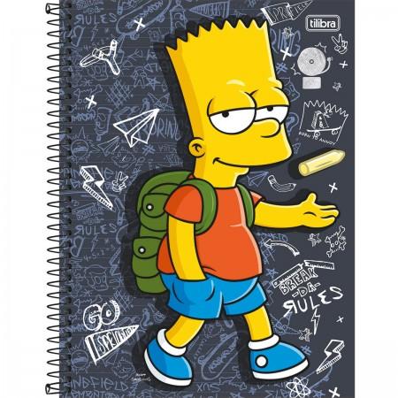 Caderno Universitário The Simpsons 96 Folhas Tilibra