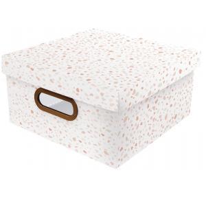 Caixa Organizadora Granilite Rosa Média Dello