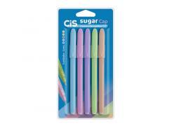 Kit Caneta Esferográfica Sugar Cap com 5 Unidades Cis