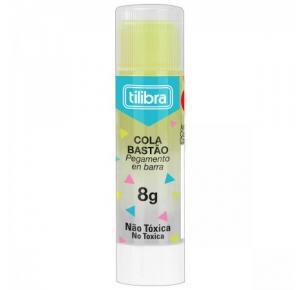 Cola em Bastão Transparente Colorida 8g Tilibra