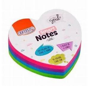 Bloco Smart notes love 70x70mm Coração - Colorido Soul -200fls