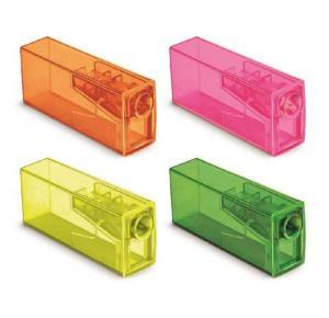 Apontador com Depósito Neon Faber Castell