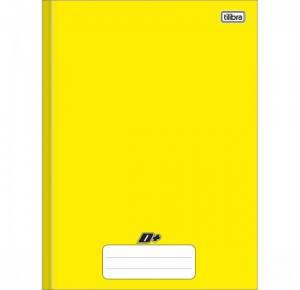 Caderno Brochura Capa Dura Universitário D+ Color Amarelo  96 Folhas Tilibra