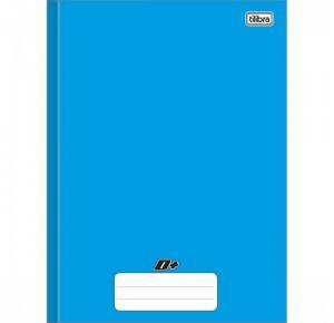 Caderno Brochura Capa Dura Universitário D+ Color Azul 96 Folhas Tilibra