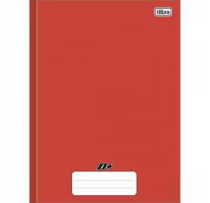 Caderno Brochura Capa Dura Universitário D+ Color Vermelho 96 Folhas Tilibra