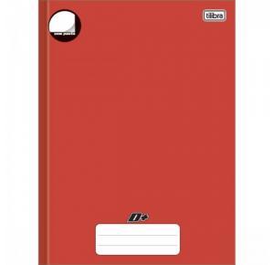 Caderno Brochura Capa Dura Universitário Sem Pauta D+ Color Vermelho 96 Folhas Tilibra